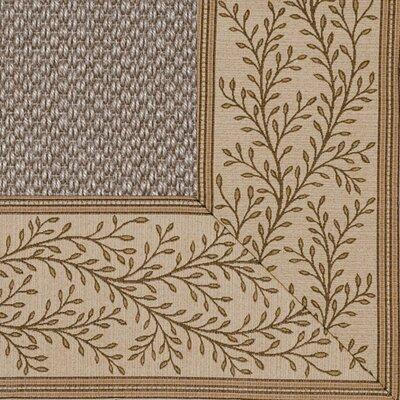 Coastal Classic Sierra Latte Vine Bordered Rug