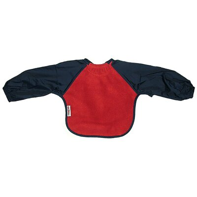 Silly Billyz Long Sleeve Fleece Bib in Red