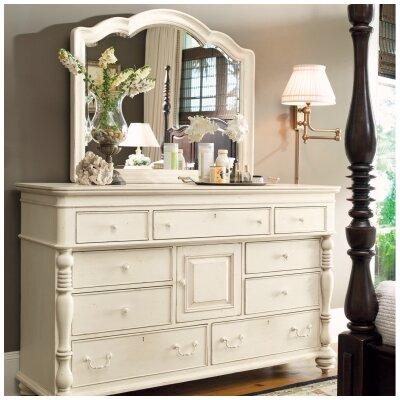 Paula Deen Home Steel Magnolia 9 Drawer Combo Dresser