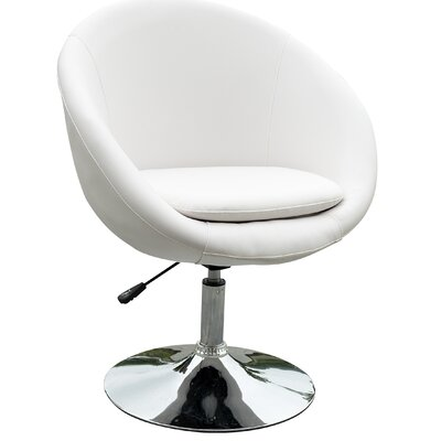 International Design Barrel Adjustable Swivel Leisure Side Chair