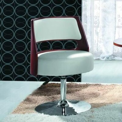 International Design USA Venice Adjustable Leisure Leather Side Chair