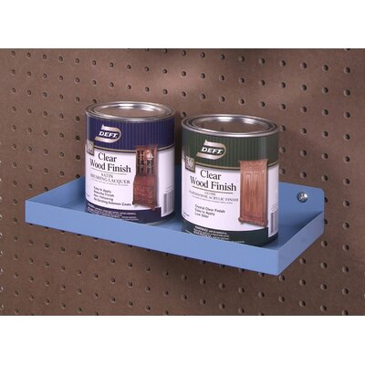 Triton Products DuraHook 12 In. W x 6 In. Deep Blue Epoxy Coated Steel Shelf for DuraBoard