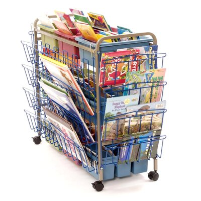 Copernicus Deluxe Book Browser Cart with Book Display Rack and Eco Tub