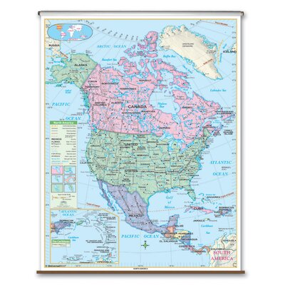 Universal Map Essential Wall Map - North America