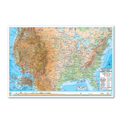 Universal Map Advanced Physical Rolled Map - Paper