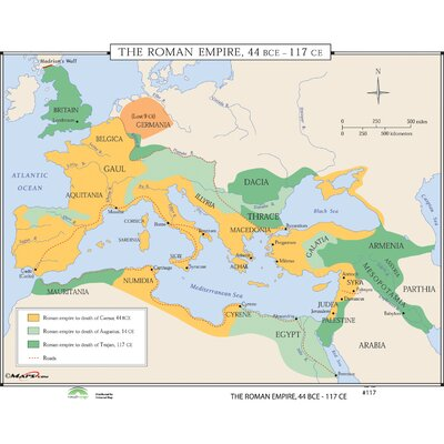 Universal Map World History Wall Maps - Growth of Roman Empire