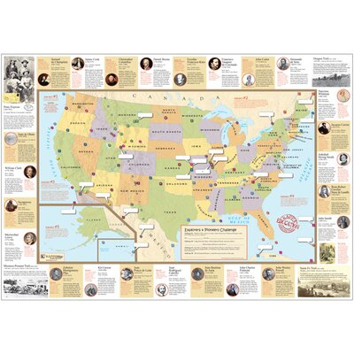 Universal Map U.S. Explorer and Pioneer Challenge Rolled Map
