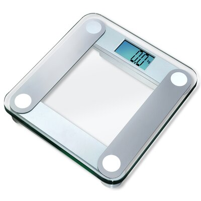 EatSmart Digital Bathroom Scale with Extra Large Backlight in Silver