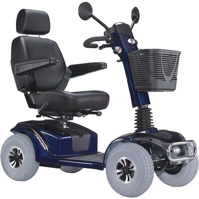 "Heartway Mirage K Electric 4 Wheel Power Scooter with 20"" Captain Seat Top Speed 7.5 MPH"