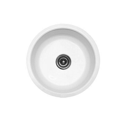 "CorStone Optimum Series 17.25"" x 17.25"" Omega Round Undermount Prep Bar Sink"