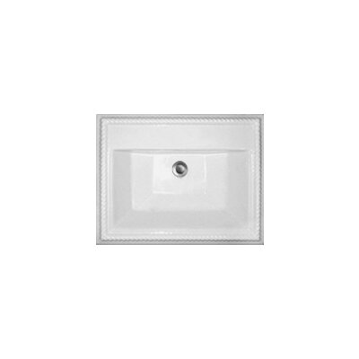 -1Advantage Chesnee Self Rimming Rectangle Bathroom Sink - 92