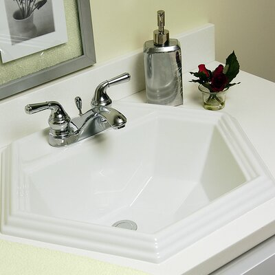 CorStone Advantage Series Edgefield Self Rimming Hexagon Bathroom Sink