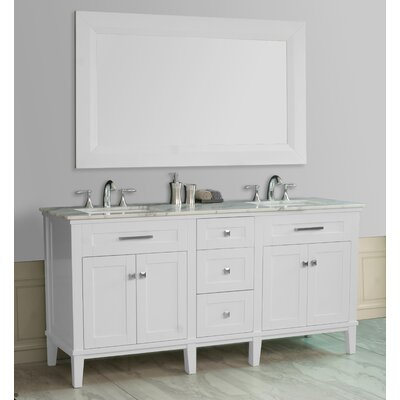 "Stufurhome Christine 72"" Double Sink Bathroom Vanity Set"