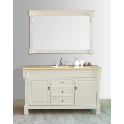 Stufurhome Galaxy 60 Single Bathroom Vanity Set With Mirror Reviews Wayfair