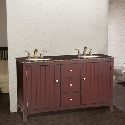 "Stufurhome Alexis 60"" Double Bathroom Vanity Set"