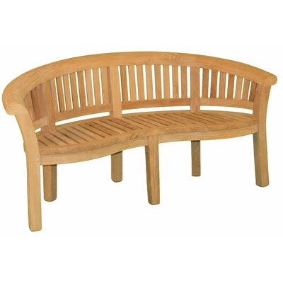 Jewels of Java Half Moon Teak Garden Bench