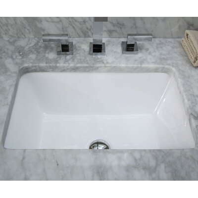 Xylem Undermount Rectangular Vitreous China Bathroom Sink