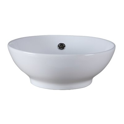 Round Vitreous China Vessel Bathroom Sink - CVE160RD