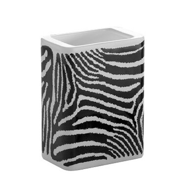 Gedy by Nameeks Safari Tooth Brush Holder in Black and White Zebra Print