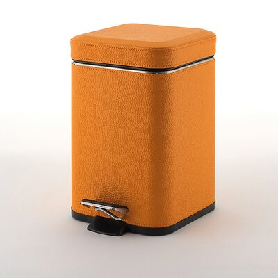 Gedy by Nameeks Faux Leather Square Waste Bin