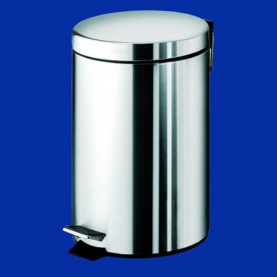 Gedy by Nameeks Argenta Medium Pedal Waste Bin in Stainless Steel