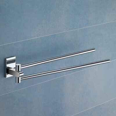"Gedy by Nameeks Maine 14.2"" Wall Mounted Jointed Double Towel Bar"