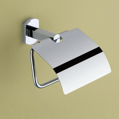 Gedy by Nameeks Edera Toilet Paper Holder with Cover in Chrome