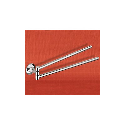 "Gedy by Nameeks Ascot 16.9"" Wall Mounted Double Towel Bar"