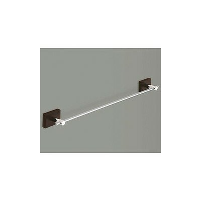 "Gedy by Nameeks Minnesota Woods 18"" Towel Bar with Espresso Wood Mount in Chrome"