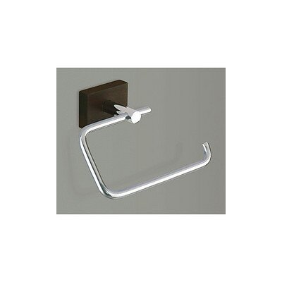 Gedy by Nameeks Minnesota Woods Toilet Paper Holder with Espresso Wood Mount in Chrome