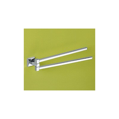 """Gedy by Nameeks Colorado 14.17"""" Wall Mounted Double Towel Bar"""