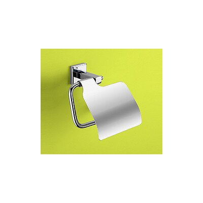 Gedy by Nameeks Colorado Toilet Paper Holder with Cover in Chrome