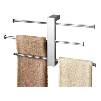 Gedy by Nameeks Bridge Wall Mounted Sliding Three Tier Towel Holder in Chrome