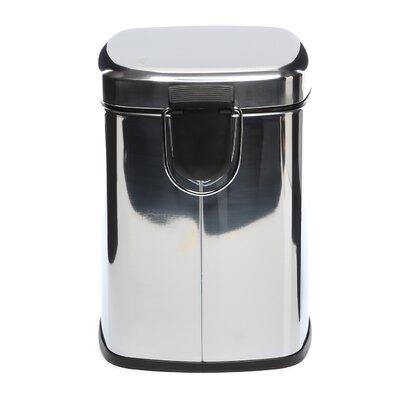 Gedy by Nameeks Argenta 1.32-Gal Square Pedal Waste Bin