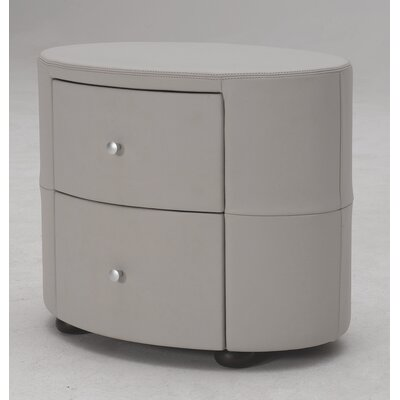 Hokku Designs Excite 2 Drawer Nightstand