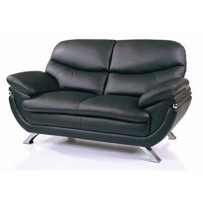 Jonus Leather Loveseat