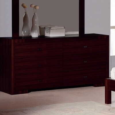 Hokku Designs Alpha 6 Drawer Dresser