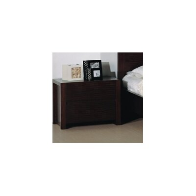 Beverly Hills Furniture Etch 2 Drawer Nightstand