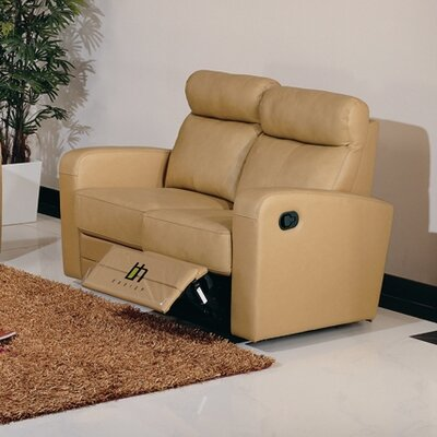 Hokku Designs Slope Leather Reclining Loveseat
