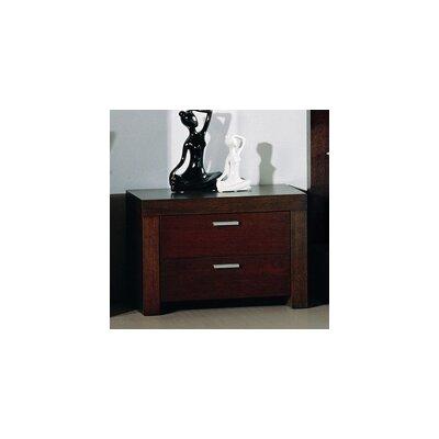 Beverly Hills Furniture Traxler 2 Drawer Nightstand