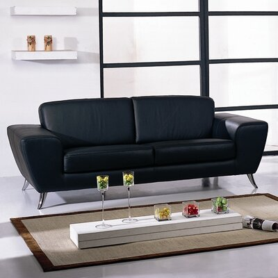 Hokku Designs Julie Leather Sofa