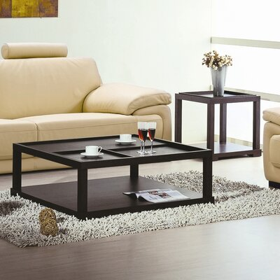Beverly Hills Furniture Parson Coffee Table Set