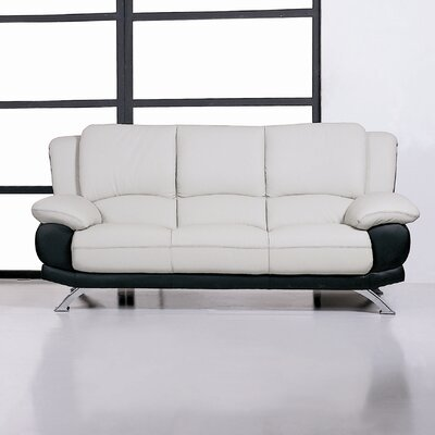 Hokku Designs Caelyn Leather Sofa