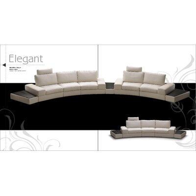 Hokku Designs Modi Leather Sectional