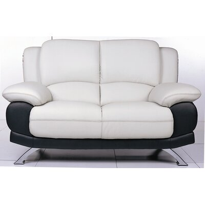 Hokku Designs Caelyn Leather Loveseat