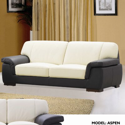 Hokku Designs Aspen Leather Sofa