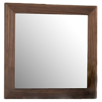 Beverly Hills Furniture Stark Mirror in Walnut