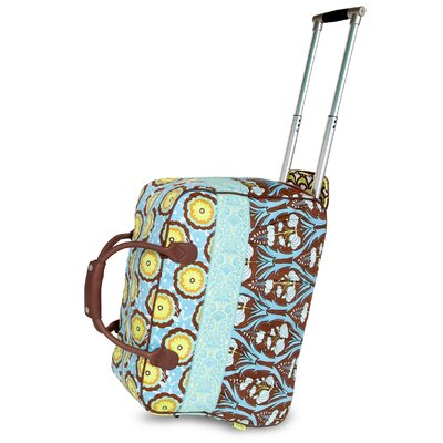 Amy Butler Graceful Traveler Cotton 2-Wheeled Carry-On Duffel