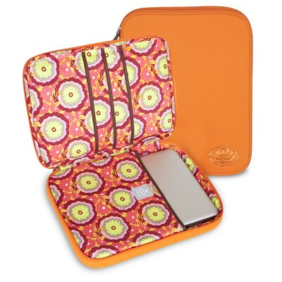 Amy Butler Nola Laptop Wrap in Buttercups Tangerine