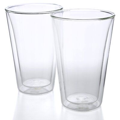 Bodum Canteen 13.5 oz Double Wall Insulated Glass (Set of 2)